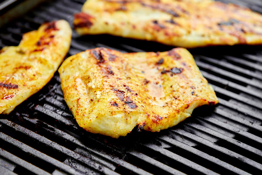 grilled pike fillet on the gas grill
